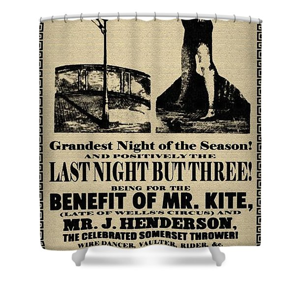 For The Benefit Of Mr Kite Shower Curtain