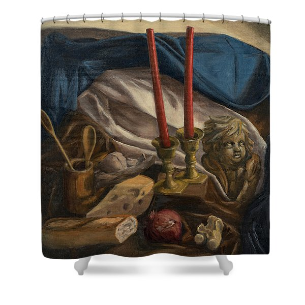 For The Bishop Of Digne Shower Curtain