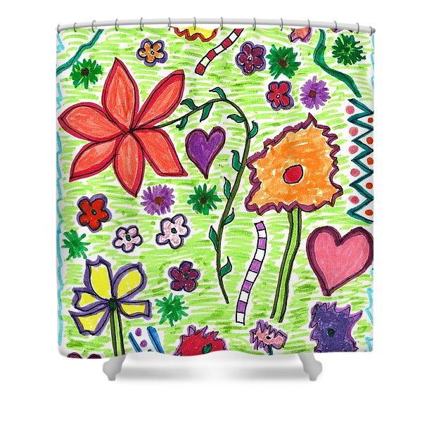 For The Love Of Flowers Shower Curtain