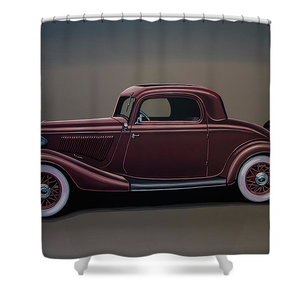 Ford 3 Window Coupe 1933 Painting Shower Curtain