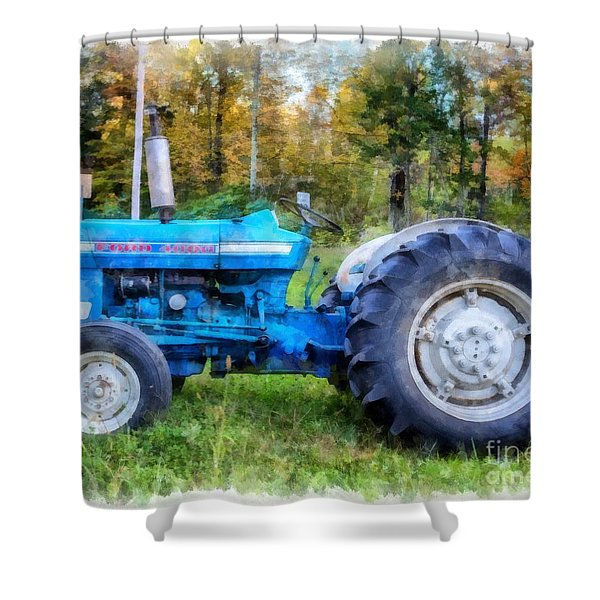 Ford 4000 Vintage Tractor Shower Curtain
