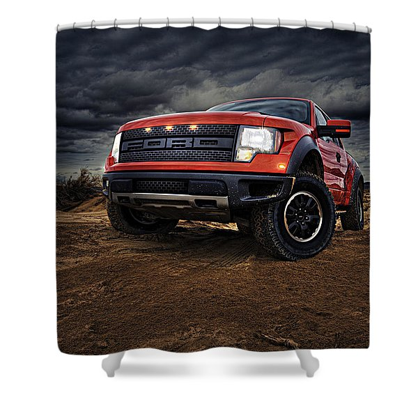 Ford F 150 Raptor  Shower Curtain