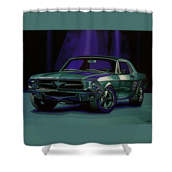 Ford Mustang 1967 Painting Shower Curtain