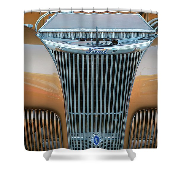 Ford V8 Shower Curtain