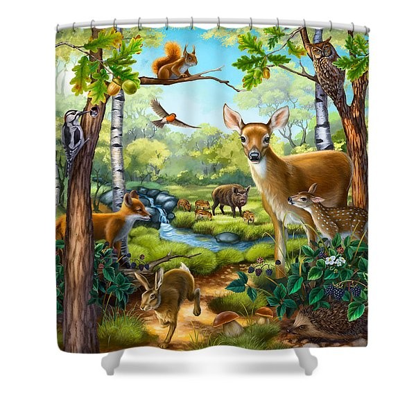 Forest Animals Shower Curtain