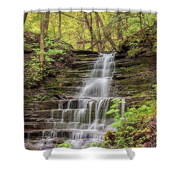 Forest Cascade Shower Curtain