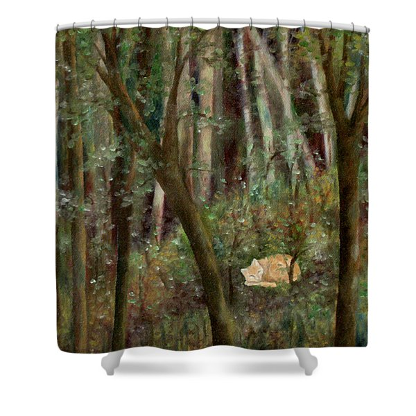 Forest Cat Shower Curtain