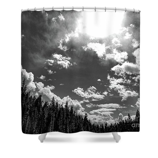 A New Day, Black And White Shower Curtain