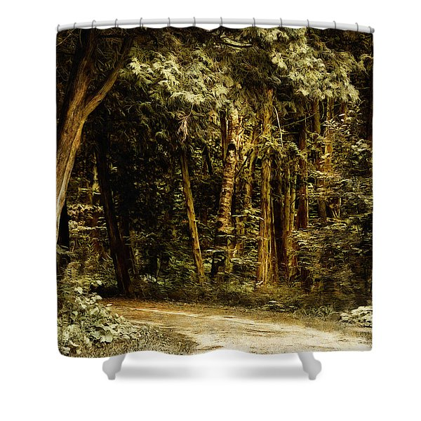Forest Curve Shower Curtain