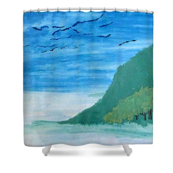 Forest Edge Shower Curtain