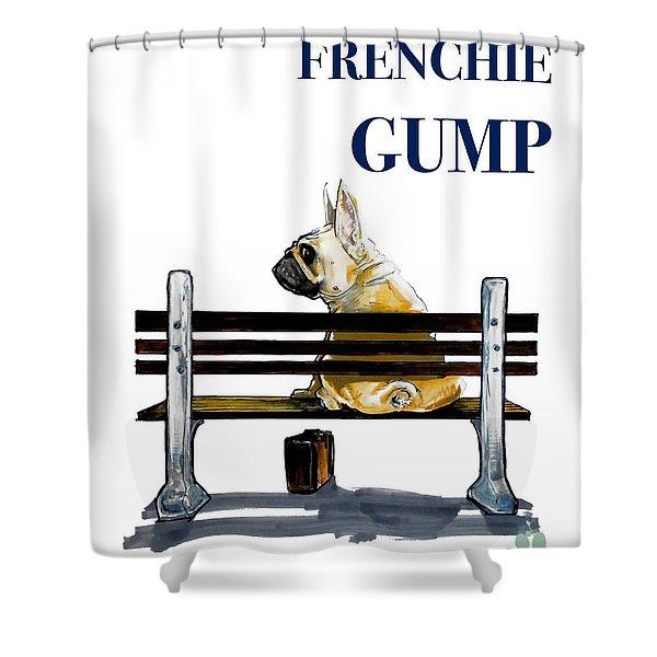 Forest Gump French Bulldog Caricature Art Print Shower Curtain