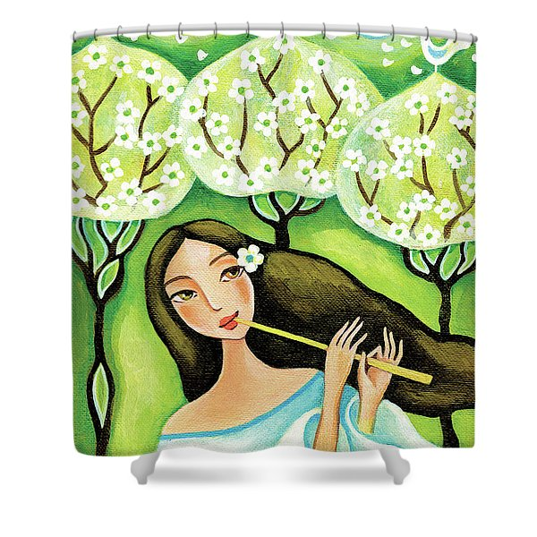 Forest Melody Shower Curtain