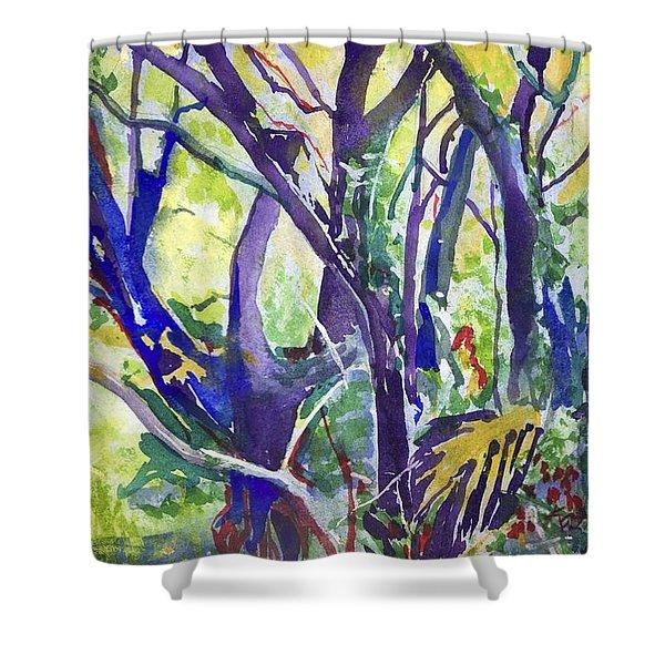 Forest Rainbow Shower Curtain