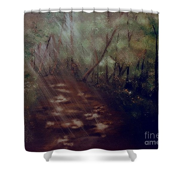Forest Rays Shower Curtain