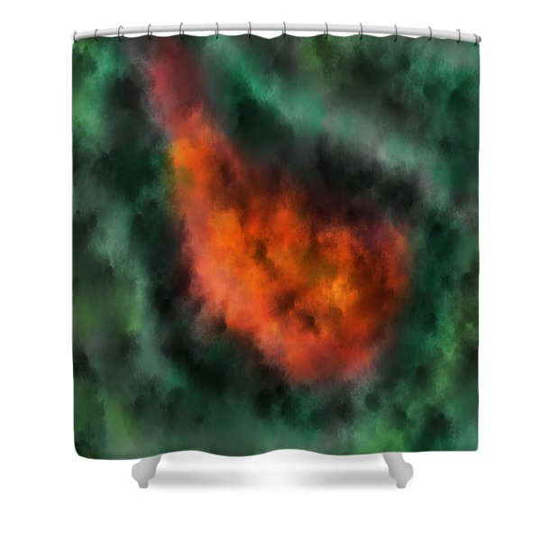 Forest Under Fire Shower Curtain