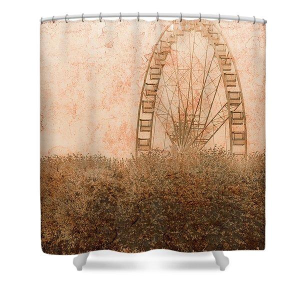 Paris, France - Forest Wheel Shower Curtain