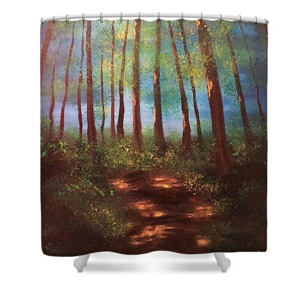 Forests Glow Shower Curtain