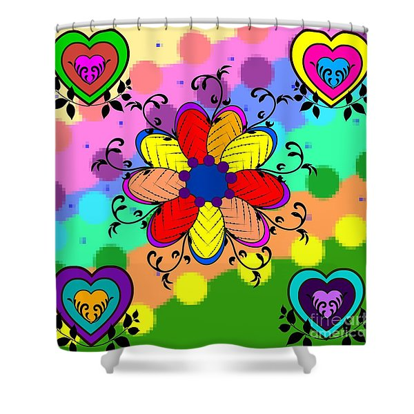 Forever Floral Shower Curtain