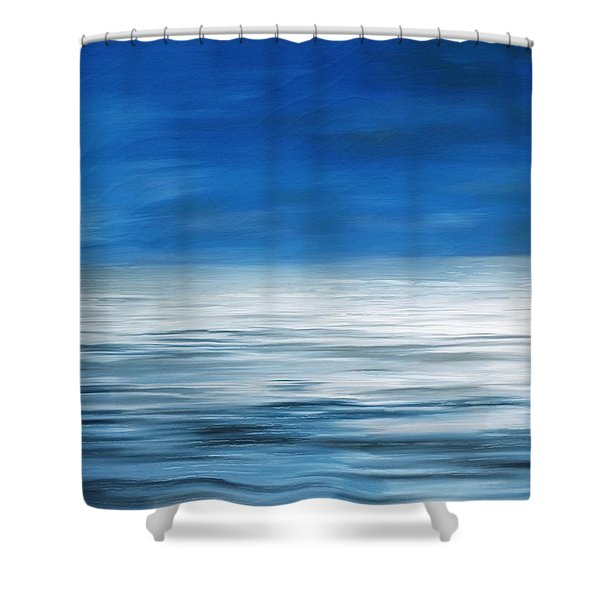 Shower Curtain featuring the painting Forever Sea by Mark Taylor