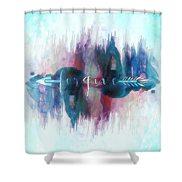 Forgive Arrow Shower Curtain