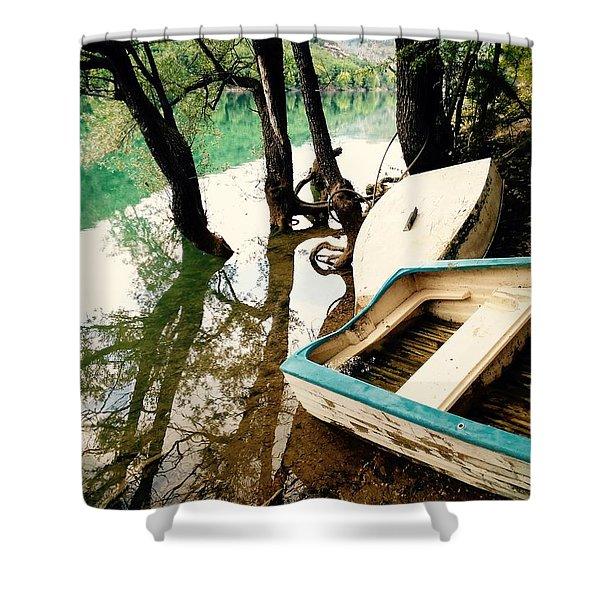 Forgotten Boats Shower Curtain