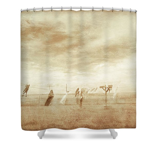 Forgotten Laundry Shower Curtain