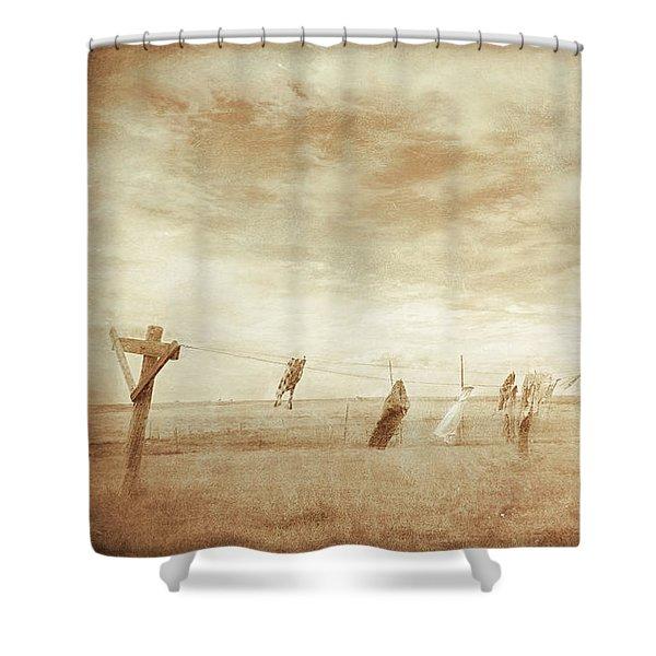 Forgotten Laundry Shower Curtain