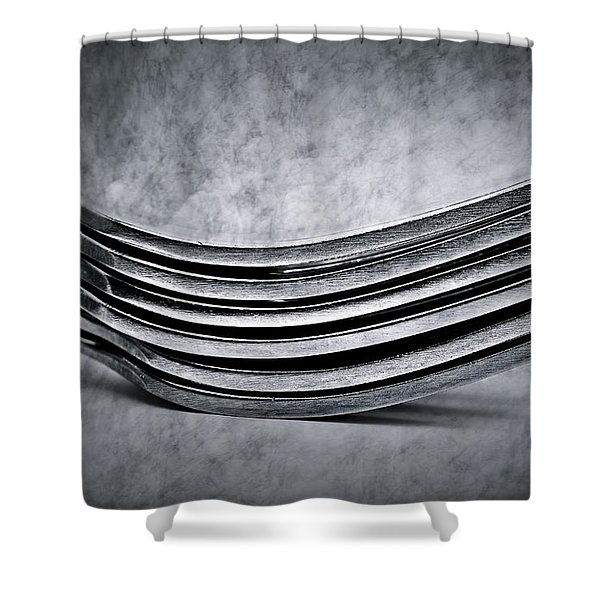 Forks - Antique Look Shower Curtain