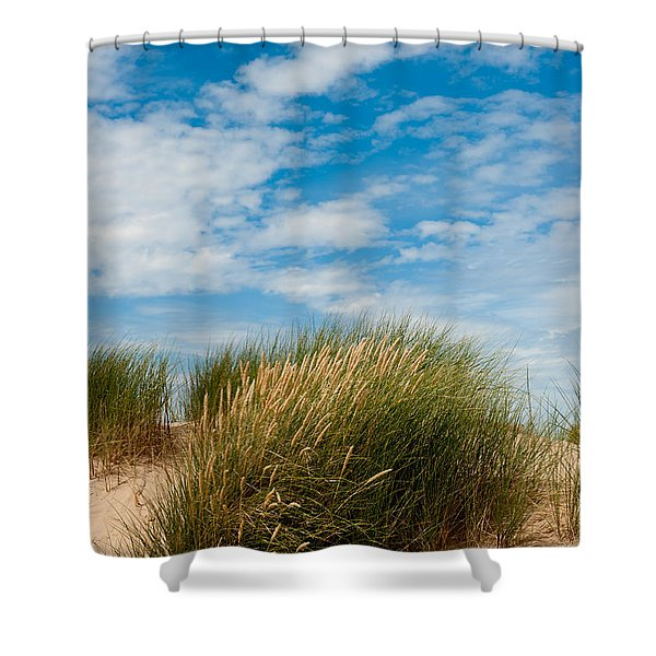 Formby Sand Dunes And Sky Shower Curtain