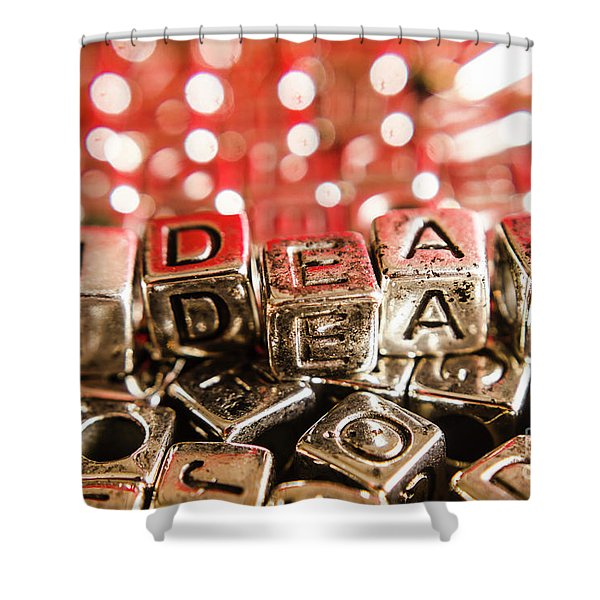 Formulation Of Ideas Shower Curtain