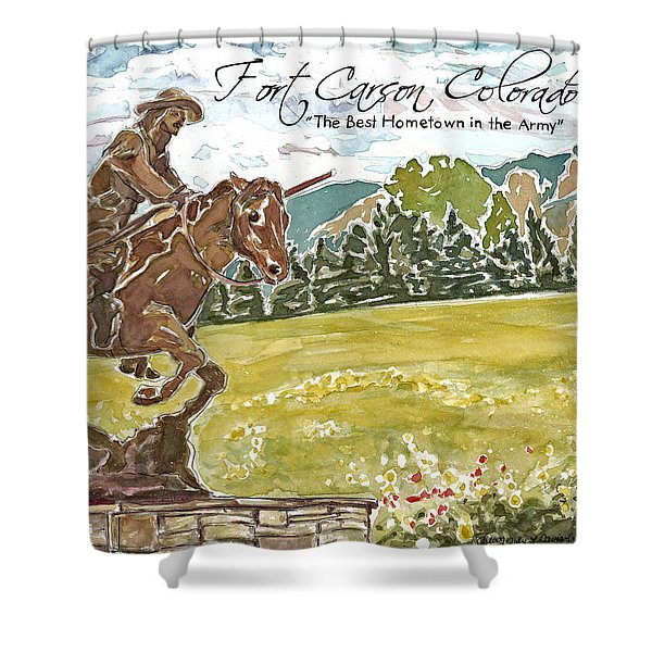 Best Hometown In The Army Shower Curtain