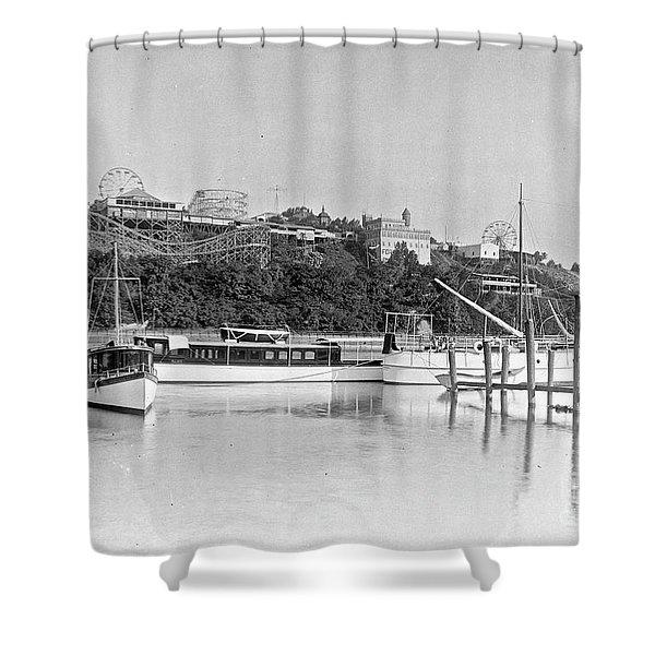 Fort George Amusement Park Shower Curtain