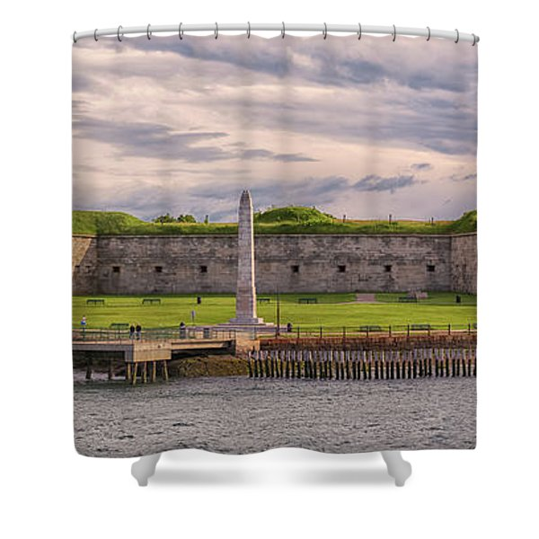 Fort Independence At Castle Island Shower Curtain