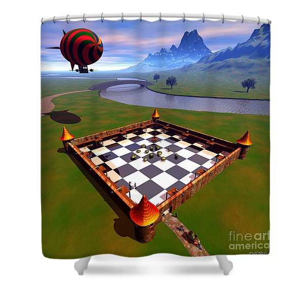 Fort Nuggets 1 Shower Curtain