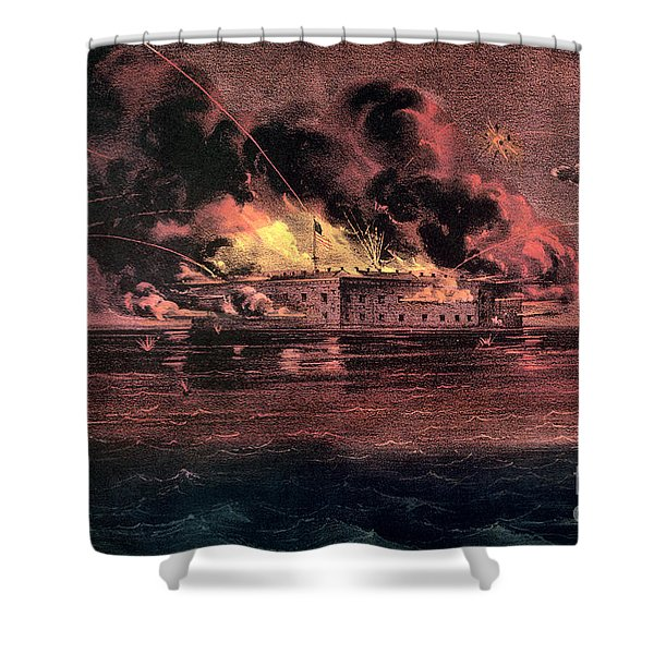 Fort Sumter, 1861 Shower Curtain