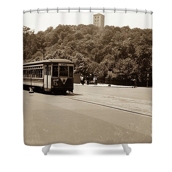 Fort Tryon Trolley Shower Curtain
