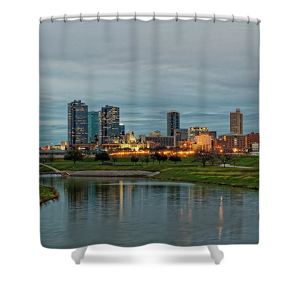 Fort Worth Color Shower Curtain