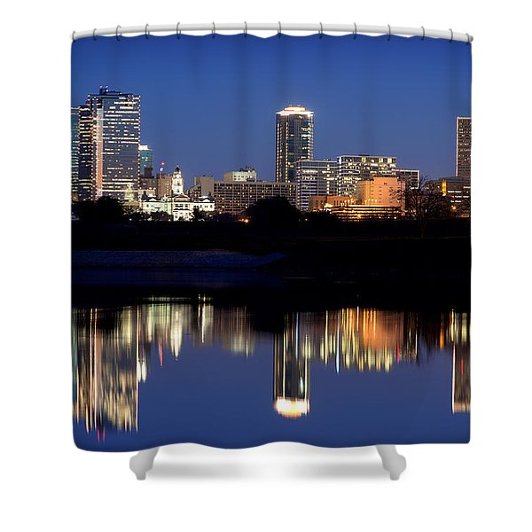 Fort Worth Reflection 41916 Shower Curtain