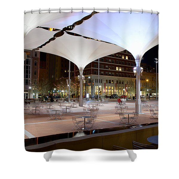 Fort Worth Sundance Square Shower Curtain