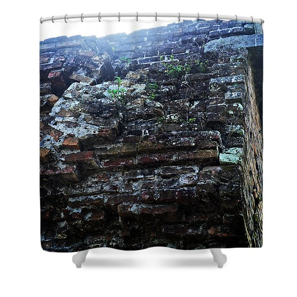 Fortification Vegetation Shower Curtain