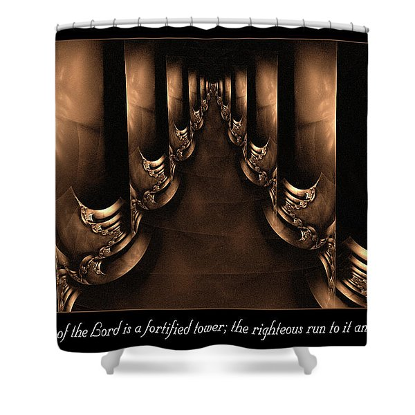 Fortified Tower Shower Curtain