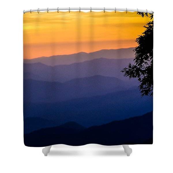 Fortuitous Sunset Shower Curtain
