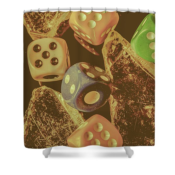 Fortune Faded Shower Curtain