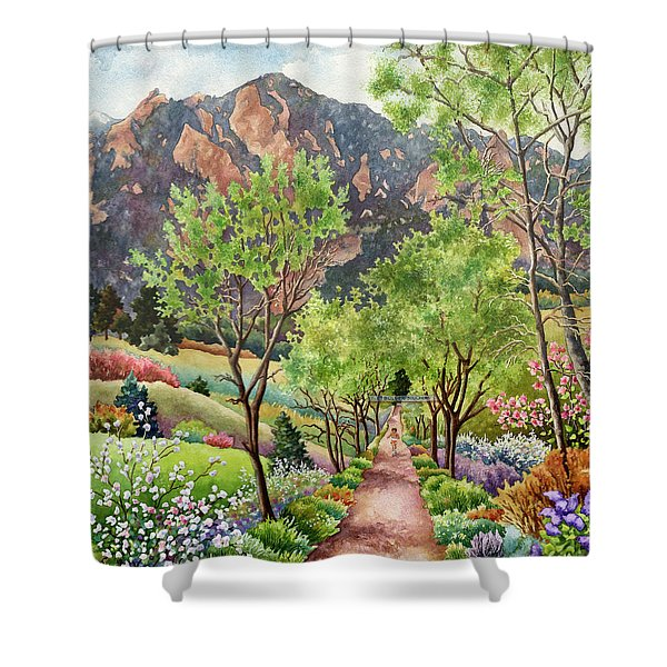Forty Years Running Shower Curtain