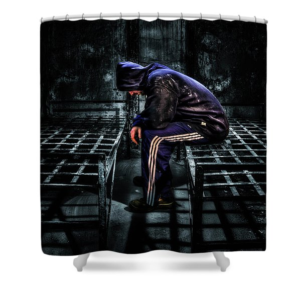 Found Guilty Shower Curtain