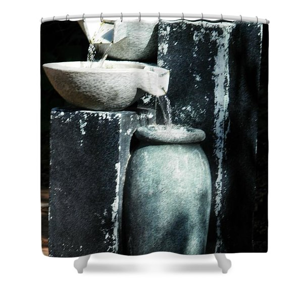 Fountain Spill Shower Curtain