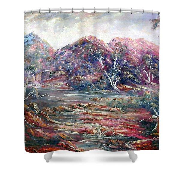 Fountain Springs Outback Australia Shower Curtain