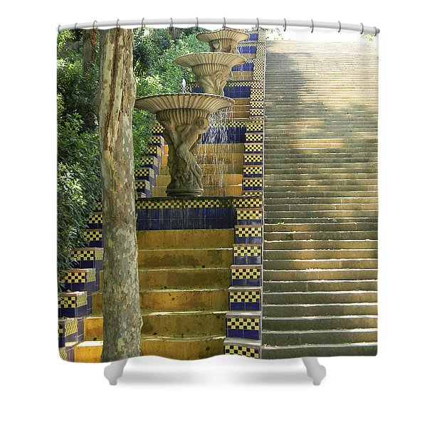 Fountains At Montjuic Shower Curtain
