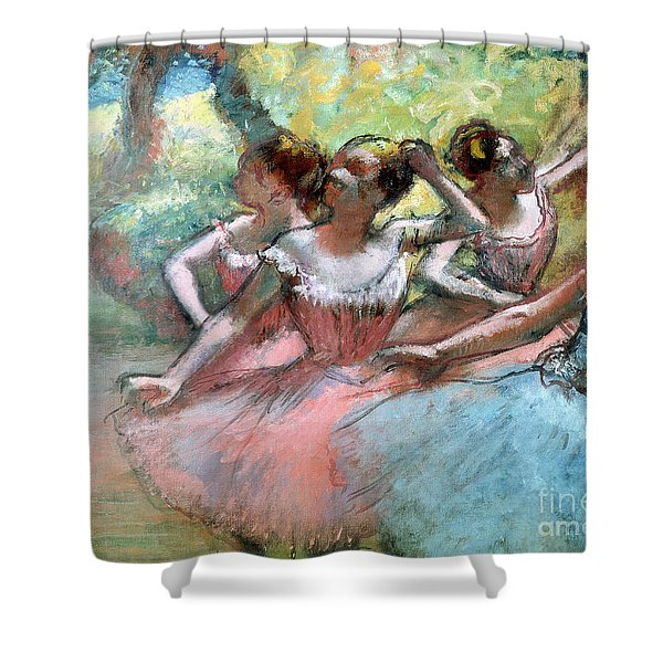 Four Ballerinas On The Stage Shower Curtain