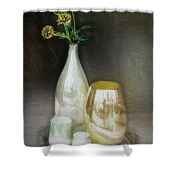 Four Buds Shower Curtain
